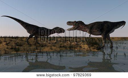 majungasaurus vs tarbosaurus