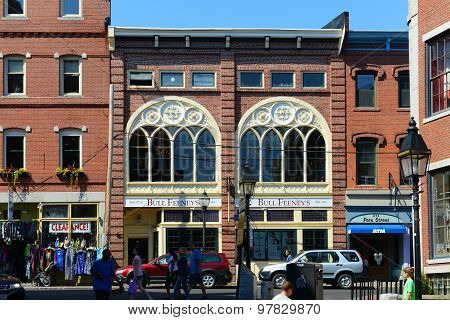 Portland Seamans Club at Old Port , Maine, USA