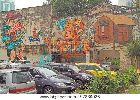graffiti in the center of Kuala Lumpur