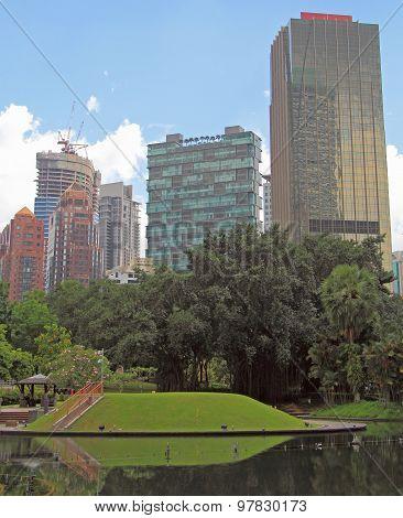skyscrapers nearly Twin Towers in Kuala Lumpur