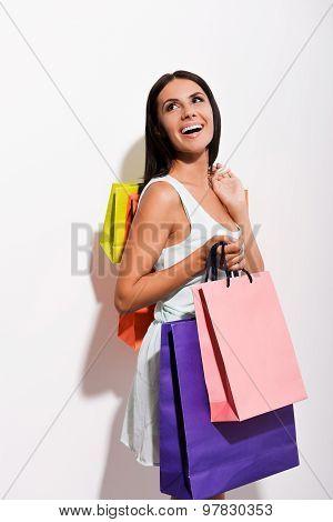Enjoying Her Shopping.