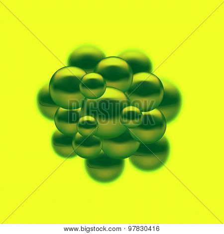 Set Molecules Spheres Abstract Background.