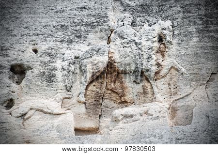 The Madara Rider is an early medieval large rock relief, Bulgaria, UNESCO World Heritage Site. Madar