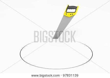 Hand Saw Tool Make Circle