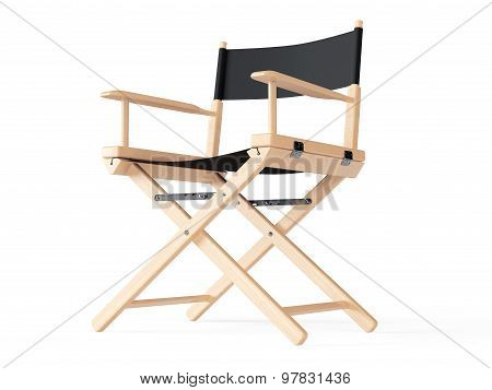 Cinema Industry Concept. Directors Chair