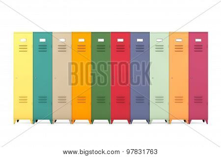 Multicolour Metal Lockers