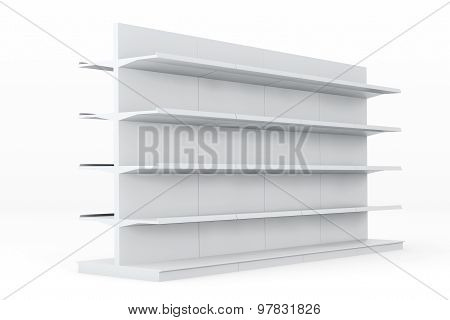 White Market Racks Shelves Showing Products