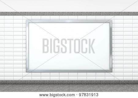 Big Blank Horizontal Poster. 3D Rendering