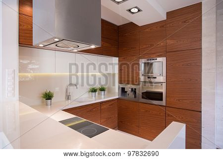 Stylish Kitchen With Ceramic Tiles