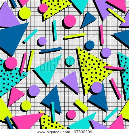 Retro 80S Seamless Pattern Background