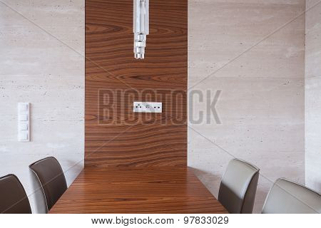 Dining Area With Wooden Table