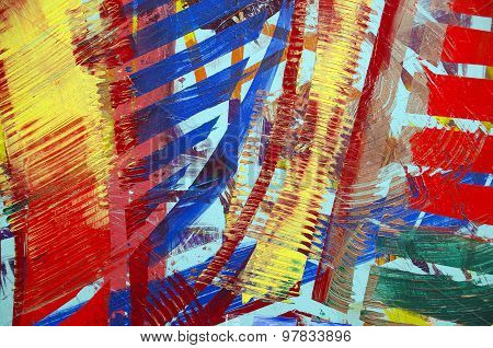 bold abstract paint design