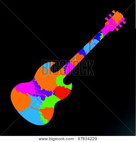 Colorful Abstract Guitar Background