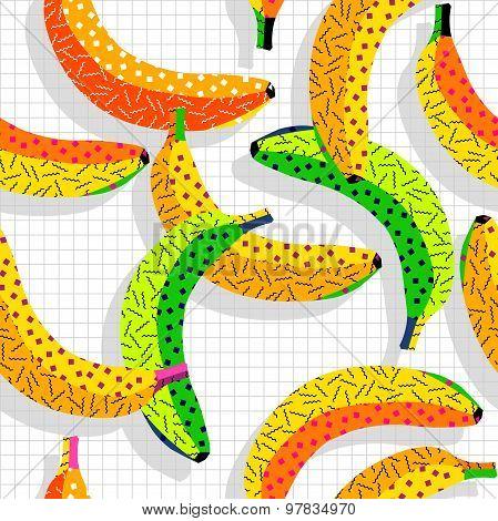 Retro 80S Banana Pattern