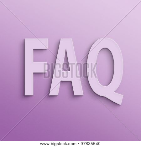 text on the wall or paper, FAQ