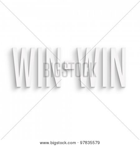 text on the wall or paper, win-win