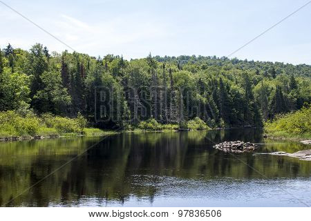 Adirondack Mountains Calm River - Raquette River