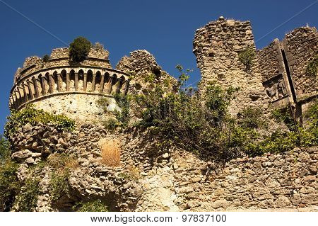 Castle,fortress,remains,calabria,italy