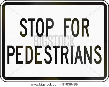 Stop For Pedestrians In Canada