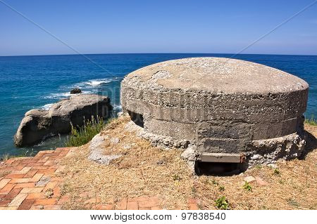 Fortification,defense,war,old,remains,remember,history,calabria,italy