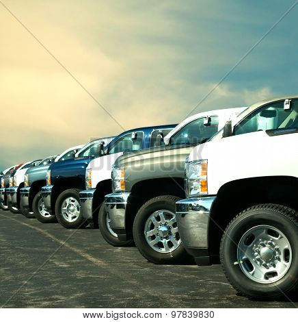 Trucks At Dealership