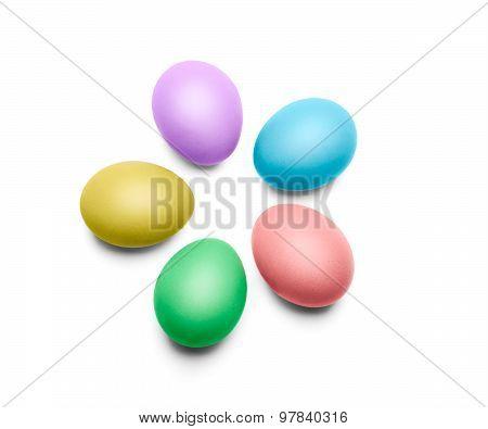 Five Colorful Easte Eggs