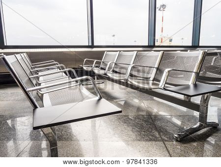 New benches at the airport
