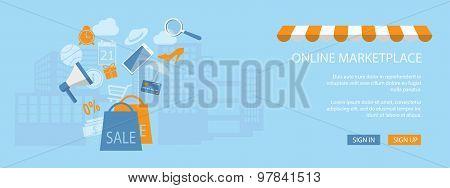 Design For Website Of Shop, Store Online
