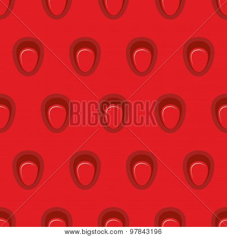 Juicy Strawberry Seamless Pattern. Vector Texture Of Ripe Strawberries Background.