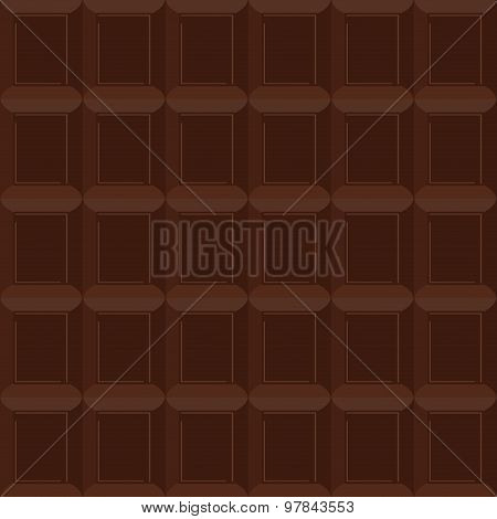 Chocolate  Seamless Pattern. Vector Texture Is Of Bittersweet Chocolate Background