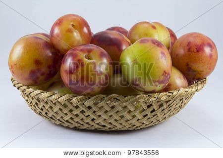 Plums Wickerwork Oval Shape
