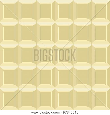 White Chocolate Seamless Pattern. Vector Texture Milk Chocolate Background