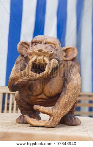 Wooden Monkey Carving