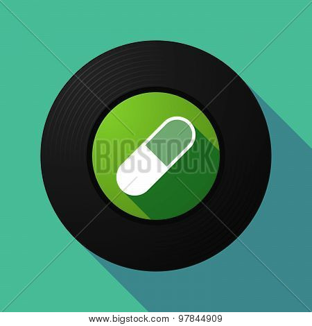 Vinyl Record With A Pill