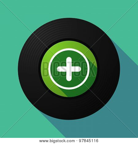 Vinyl Record With A Sum Sign