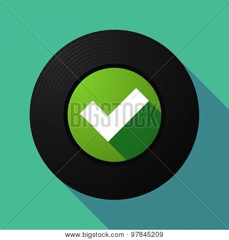 Vinyl Record With A Check Mark