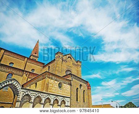 Santa Maria Novella Under A Dramatic Sky In Florence