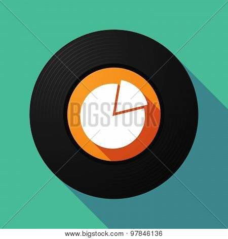 Vinyl Record With A Pie Chart