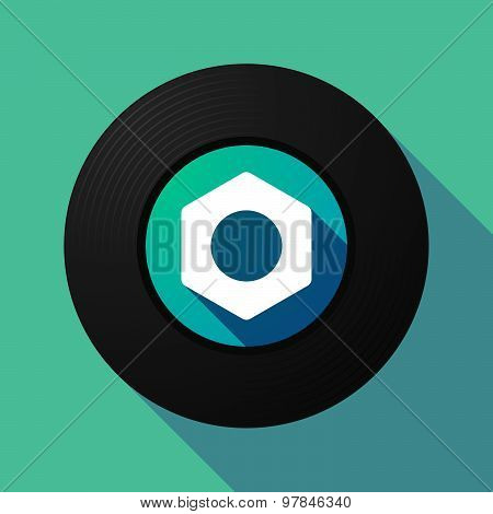 Vinyl Record With A Nut
