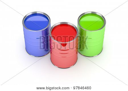 An image of some nice paint cans