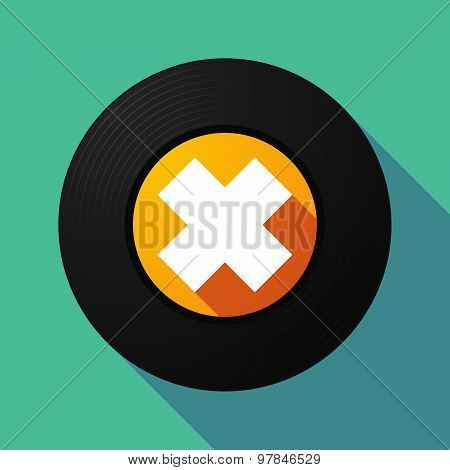 Vinyl Record With An Irritating Substance Sign