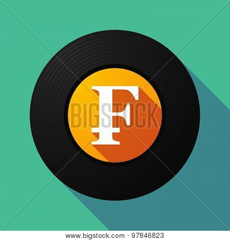 Vinyl Record With A Swiss Franc Sign