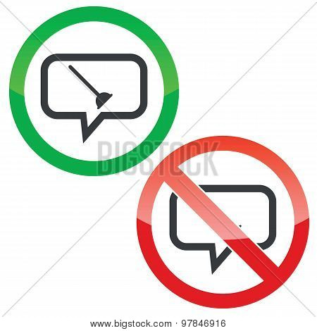 Plunger message permission signs
