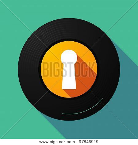 Vinyl Record With A Key Hole