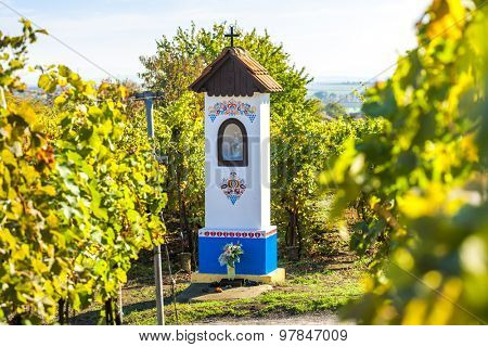 God's torture with vineyard near Nechory, Czech Republic