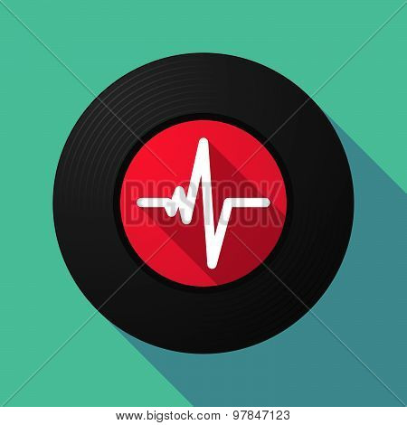Vinyl Record With A Heart Beat Sign