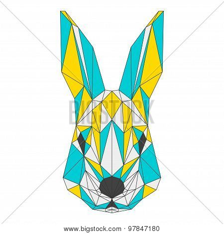 Abstract Squirrel Isolated On White Background. Polygonal Triangle Geometric Illustration