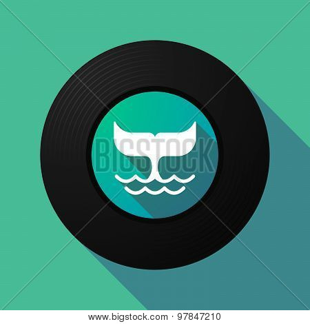 Vinyl Record With A Whale Tail