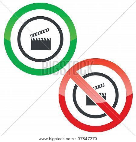 Video capture permission signs
