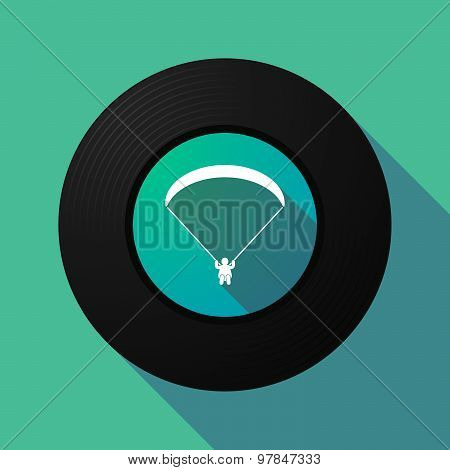 Vinyl Record With A Paraglider